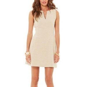 Lilly Pulitzer Brielle Metallic Gold Striped Dress